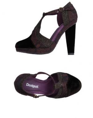 Туфли DESIGUAL. Цвет: темно-коричневый