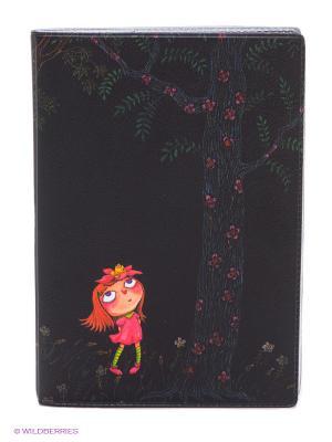 Обложка для автодокументов Девочка в розовом платье ночью Mitya Veselkov. Цвет: черный