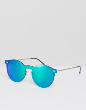 Spitfire Круглые солнцезащитные очки. Цвет: зеленый