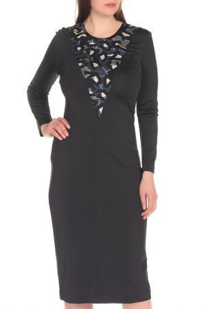 Полуприлегающее платье с длинным рукавом Just Cavalli. Цвет: черный
