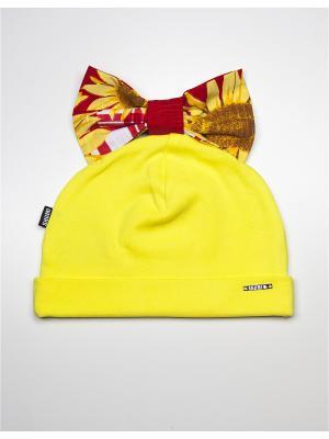 Шапка SHUMI DESIGN. Цвет: желтый