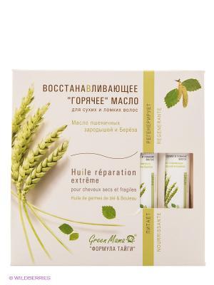 Масло для волос пшеничных зародышей и береза Green mama. Цвет: белый