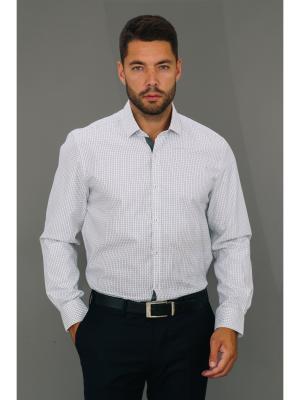 Рубашка John Jeniford. Цвет: серый, белый