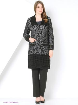 Пальто Milana Style. Цвет: черный