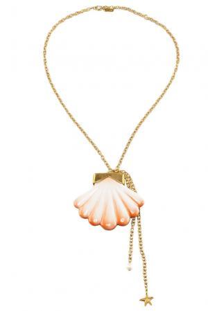 Колье 117068 Nach Jewellery. Цвет: оранжевый