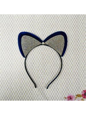 Ободок карнавальный Bizon. Цвет: синий