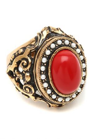 Кольцо MAURIZIO MORI. Цвет: золотой, красный