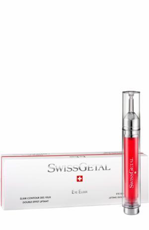 Эликсир для глаз с эффектом двойного лифтинга Swissgetal. Цвет: бесцветный