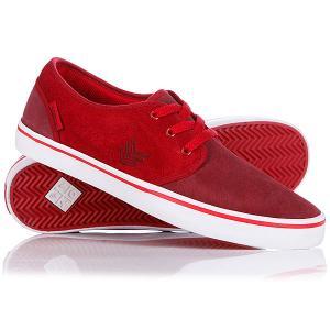 Кеды кроссовки низкие  Slacker Burg/Red/White VOX. Цвет: бордовый