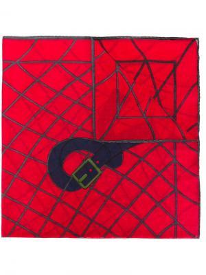 Нагрудный платок с принтом ремня Roberta  Di Camerino Vintage. Цвет: красный