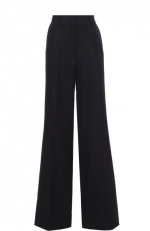 Шерстяные расклешенные брюки со стрелками Dries Van Noten. Цвет: темно-синий