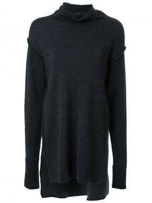 Асимметричная трикотажная блузка Fad Three. Цвет: серый