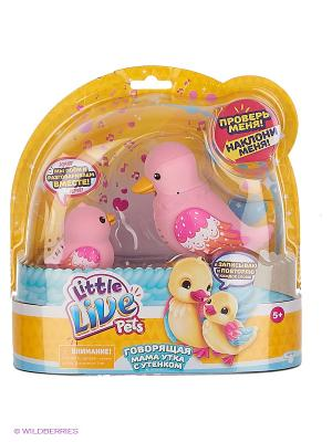 Интерактивная игрушка Little Live Pets Мама утка с утенком Waddle Moose. Цвет: розовый