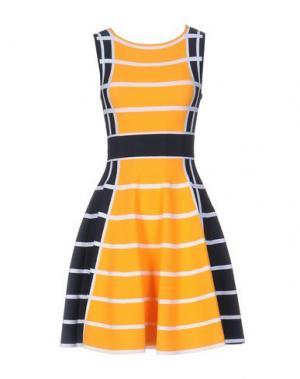 Короткое платье ANTONINO VALENTI. Цвет: оранжевый