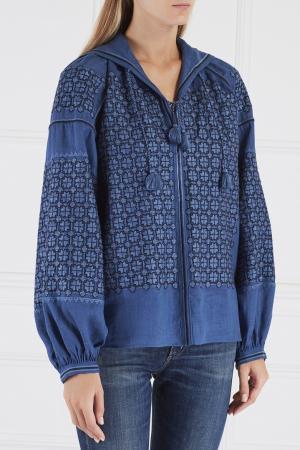 Льняная блузка Strawberry Field Vita Kin. Цвет: синий
