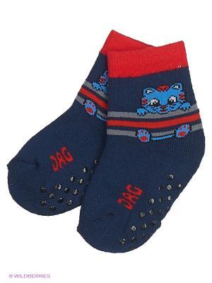 Махровые носки DAG. Цвет: синий
