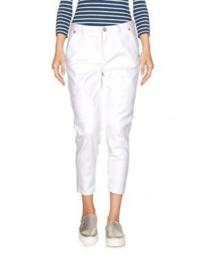 Джинсовые брюки-капри BLAUER. Цвет: белый