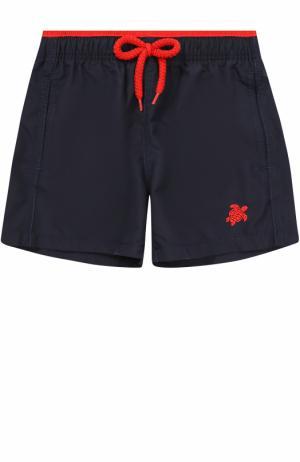 Однотонные плавки-шорты Vilebrequin. Цвет: темно-синий