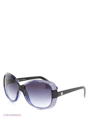 Солнцезащитные очки TOUCH. Цвет: черный, фиолетовый