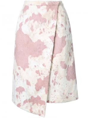 Юбка с запахом Murral. Цвет: розовый и фиолетовый