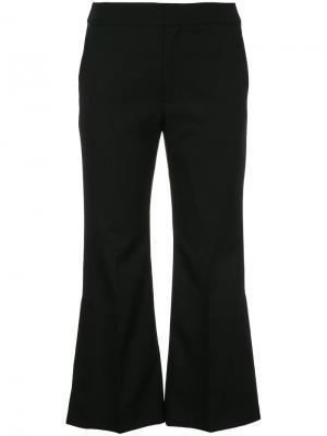 Укороченные расклешенные брюки Le Ciel Bleu. Цвет: чёрный