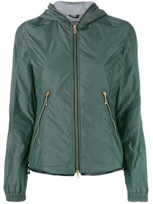 Легкая стеганая куртка Duvetica. Цвет: зелёный
