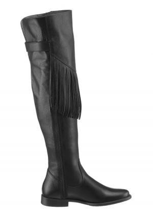 Ботфорты tamaris. Цвет: черный