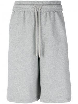 Спортивные шорты с графическим принтом Off-White. Цвет: серый