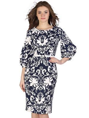 Платье OLIVEGREY. Цвет: темно-синий, синий, белый