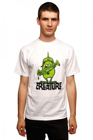 Футболка  Gremmie White Creature. Цвет: белый