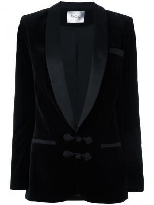 Бархатный блейзер Draco Racil. Цвет: чёрный
