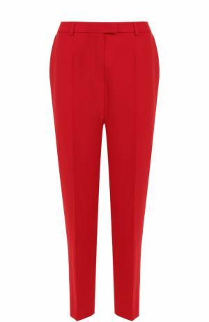 Укороченные брюки прямого кроя со стрелками Escada. Цвет: красный