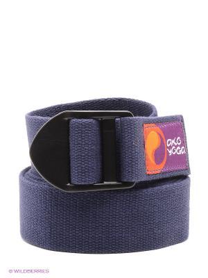 Ремень для йоги Бодхи Де люкс 250смх4смх2,5мм (синий) Ako-Yoga. Цвет: синий