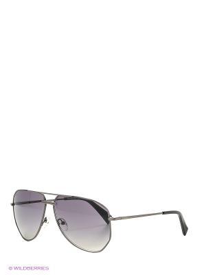 Солнцезащитные очки BLD 1620 101 Baldinini. Цвет: темно-серый