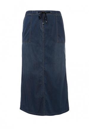 Юбка джинсовая Elena Miro. Цвет: синий