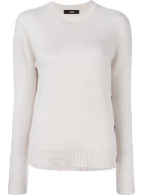 Пуловер с пуговицами Steffen Schraut. Цвет: телесный