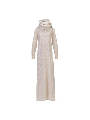 Платье трикотажное макси со съемным воротником Bella kareema