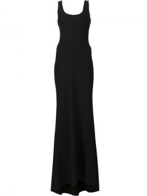Приталенное длинное платье Elizabeth And James. Цвет: чёрный