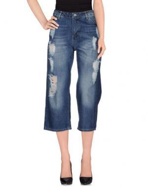Джинсовые брюки-капри SHIKI. Цвет: синий
