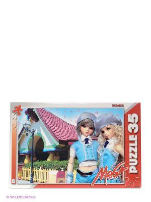 Пазл Волшебный мир. Куклы в голубых беретках Канц-Эксмо. Цвет: лиловый