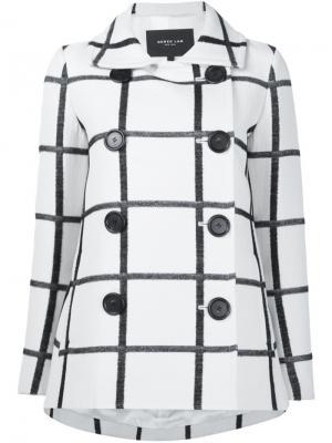Пальто в клетку Derek Lam. Цвет: белый
