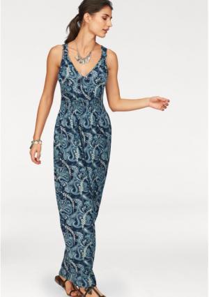 Платье макси BOYSENS BOYSEN'S. Цвет: темно-синий/бирюзовый