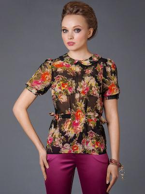 Блузка Арт-Деко. Цвет: черный, красный