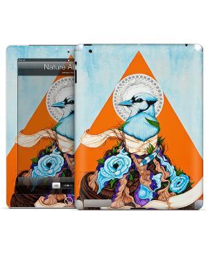 Виниловая наклейка для iPad 2,3,4 Nature Abound-Anthony Hurd Gelaskins. Цвет: голубой, оранжевый
