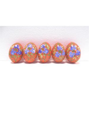 Пасхальные яйца - Оранжевые с розами Taowa. Цвет: оранжевый, синий