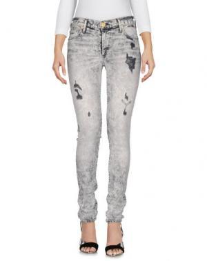 Джинсовые брюки TRUE RELIGION. Цвет: серый