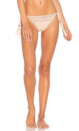 Плавки бикини крошё с завязками по бокам SHE MADE ME. Цвет: peach