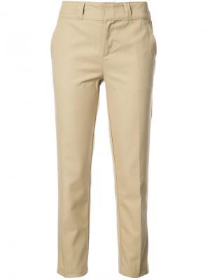 Укороченные брюки Re/Done. Цвет: телесный