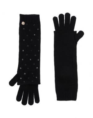 Перчатки JUST FOR YOU. Цвет: черный