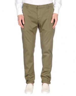 Повседневные брюки DONDUP. Цвет: зеленый-милитари